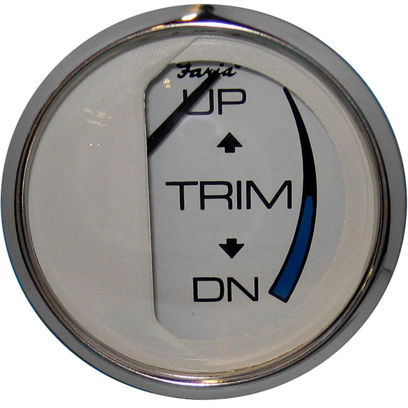Faria Chesapeake White Ss 2 Trim Gauge (Mercury - Mariner - Mercruiser - Volvo Dp - Yamaha-2001 And Newer) [13807] - Boat Outfitting