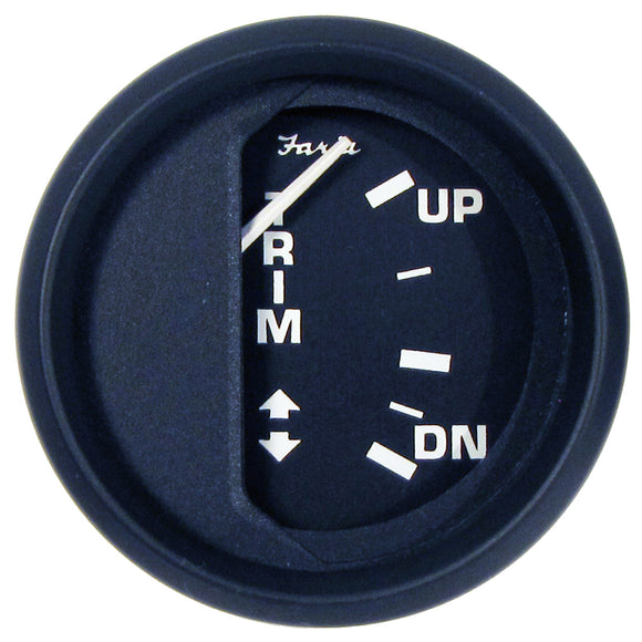 Faria Euro Black 2 Trim Gauge (Mercury - Mariner - Mercruiser - Volvo Dp - Yamaha-2001 And Newer) [12828] - Boat Outfitting