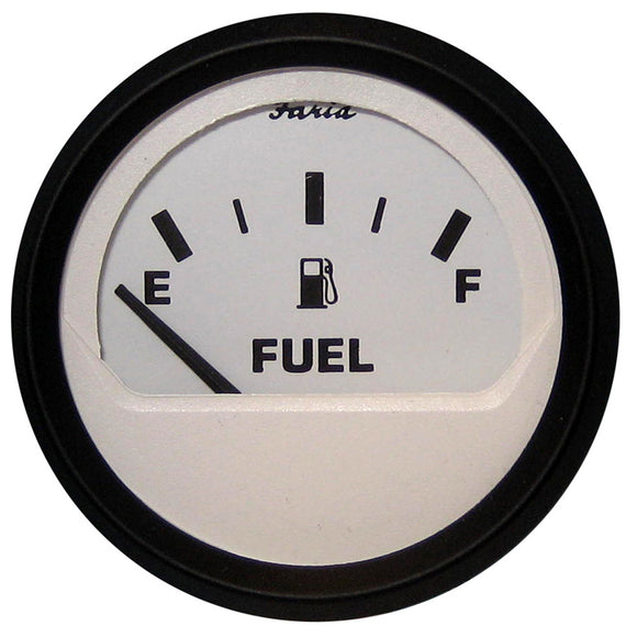 Faria Euro White 2 Fuel Level Gauge (E-1-2-F) [12901] - Boat Outfitting