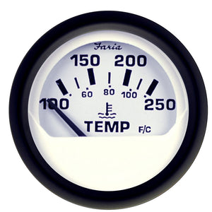 Faria Euro White 2 Water Temperature Gauge (100-250 Degreef) [12904] - Boat Outfitting