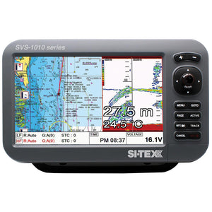 Si-Tex Svs-1010Cf 10 Chartplotter-Sounder Combo W-Internal Gps Antenna & Navionics+ Card [Svs-1010Cf] - Marine Navigation & Equipment