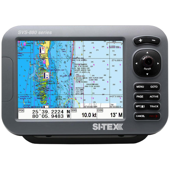 Si-Tex Svs-880C 8 Chartplotter W-Internal Gps Antenna & Navionics+ Card [Svs-880C] - Marine Navigation & Equipment