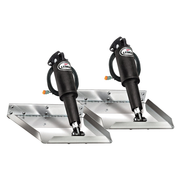 Lenco 12 X 12 Electro-Polished Edge Mount Trim Tab Kit [15116-101] - Boat Outfitting