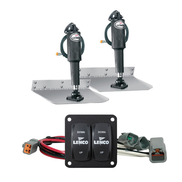 Lenco 9 X 12 Standard Trim Tab Kit W-Double Rocker Switch [15101-104] - Boat Outfitting