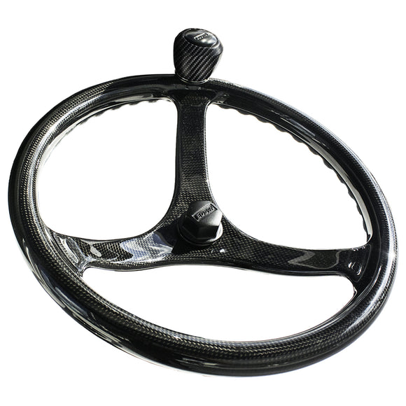 Edson Ec3 Elite Carbon 13 Comfortgrip Powerwheel - Carbon Fiber - 3-Spoke [1710C-13C-Kit] - Boat Outfitting