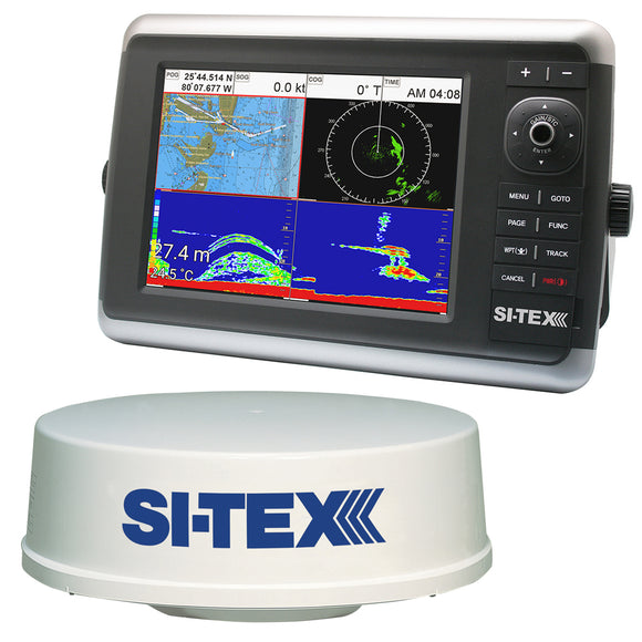 Si-Tex Navstar 10R Gps Chartplotter Sonar Radar System W-Mds-12 Radar And Internal Gps Antenna [Navstar 10R] - Marine Navigation & Equipment