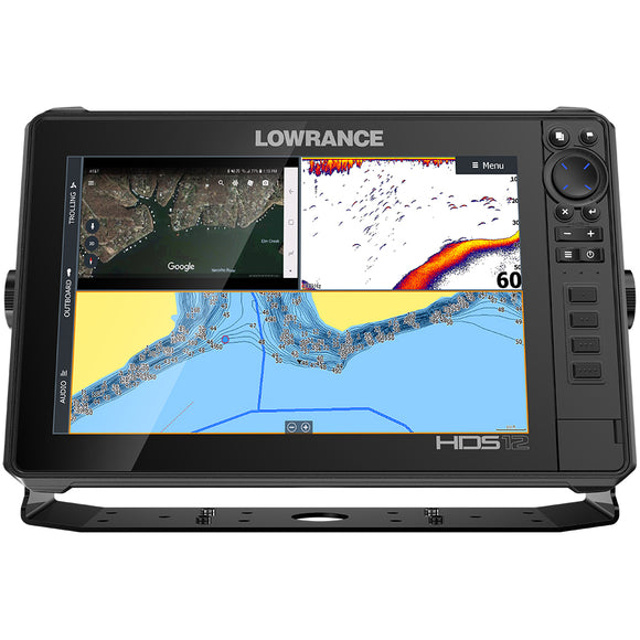 Lowrance HDS-12 LIVE w/Active Imaging 3-in-1 Transom Mount  C-MAP Pro Chart [000-14428-001]