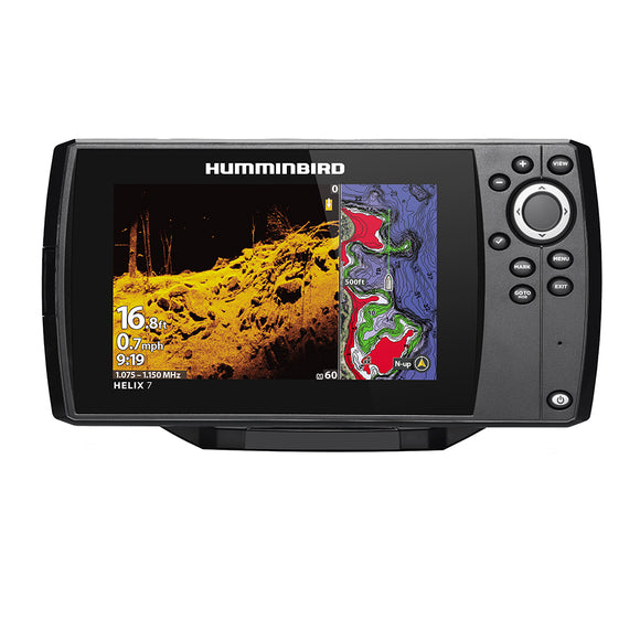 Humminbird Helix 7 Chirp Mega Di Fishfinder-Gps Combo G3 W-Transom Mount Transducer [410940-1] - Marine Navigation & Equipment