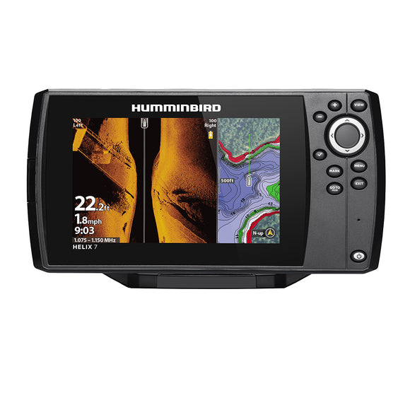Humminbird Helix 7 Chirp Mega Si Fishfinder-Gps Combo G3 W-Transom Mount Transducer [410950-1] - Marine Navigation & Equipment