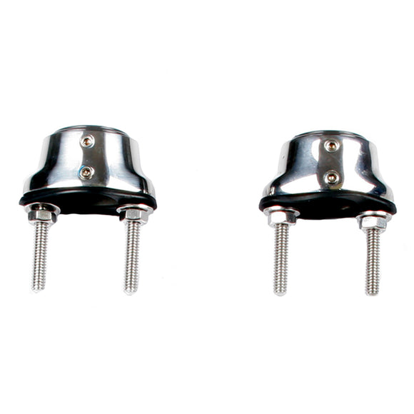 Edson Stainless Steel Pedestal Guard Mounting Feet - Pair [310St-100-125] - Boat Outfitting
