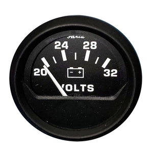 "Faria 2"" Voltmeter (20-30V) Euro Black *Bulk Case of 24 [VP9191]"
