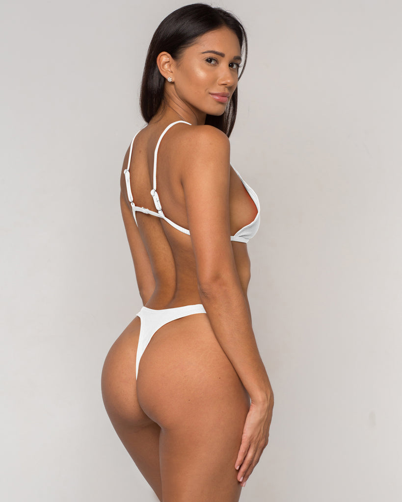 White Ribbed Bikini - Simpa Collection - xidornswim