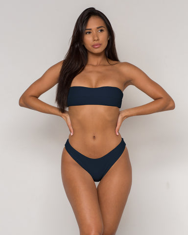 Black Bandeau Bikini - Becca Collection - xidornswim
