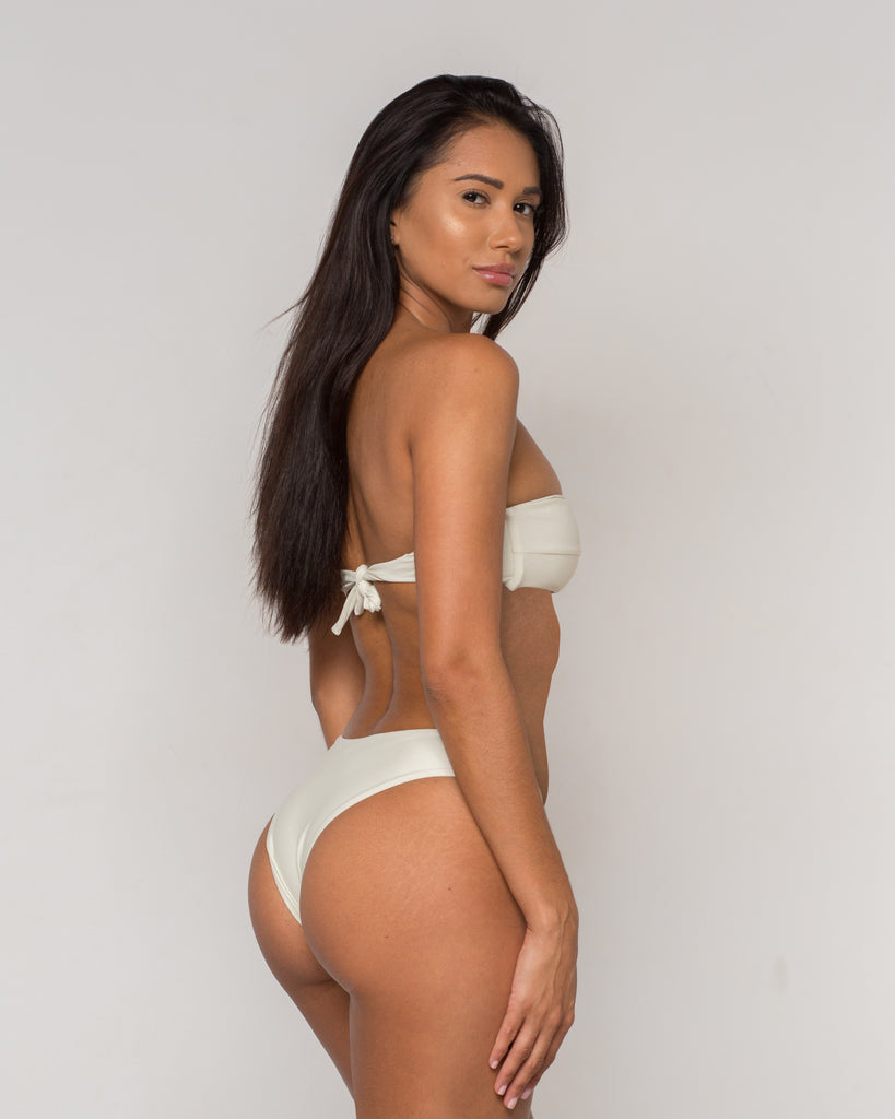 White Bandeau Bikini - Becca Collection - xidornswim