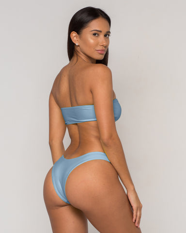 Blue Bandeau Bikini - Dura Collection - xidornswim