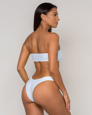 White Bandeau Bikini - Dura Collection - xidornswim