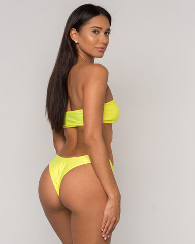 Yellow Bandeau Bikini - Dura Collection - xidornswim