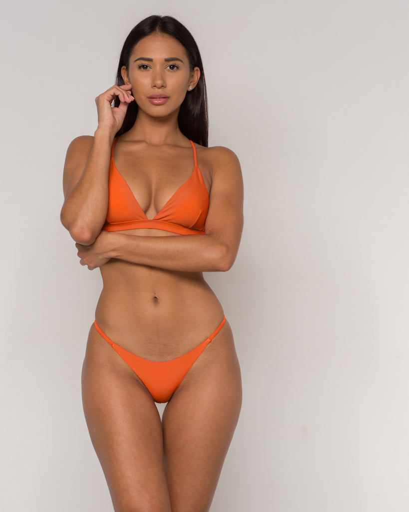 Orange Sexy Triangle Bikini - Sava Collection - xidornswim
