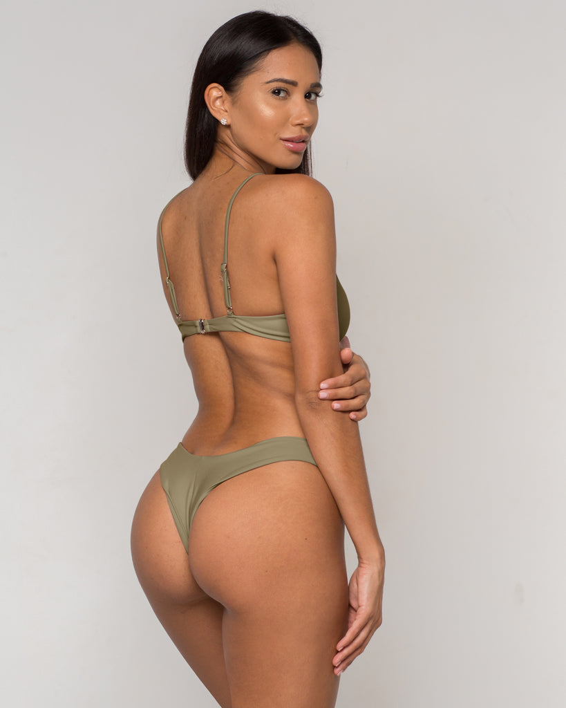 Green Knotted Bikini - Eva Collection - xidornswim
