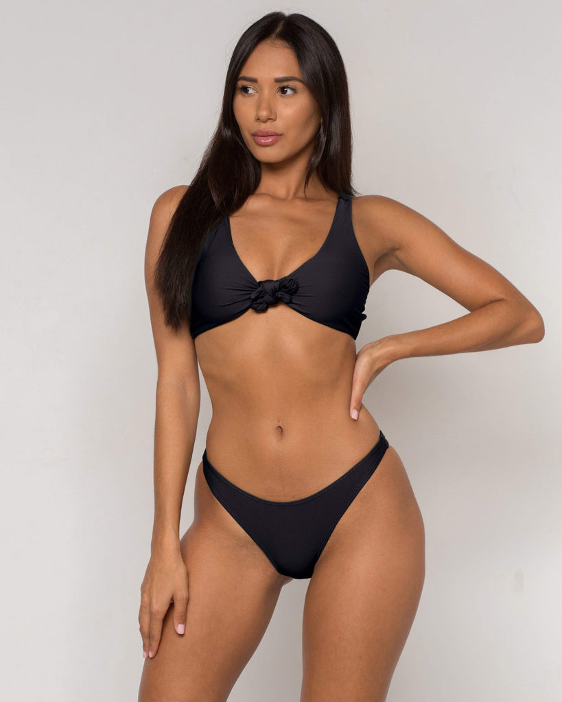 Black Bow knot Bikini - Kylie Collection - xidornswim