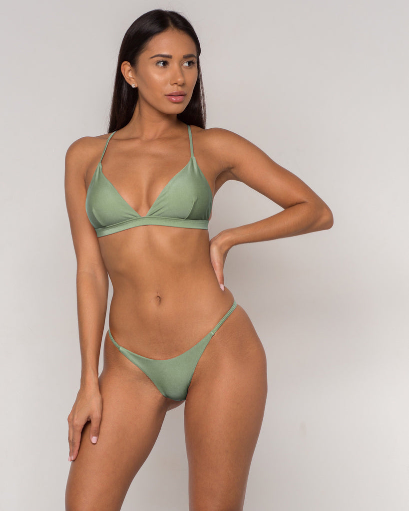 Green Sexy Triangle Bikini - Sava Collection - xidornswim