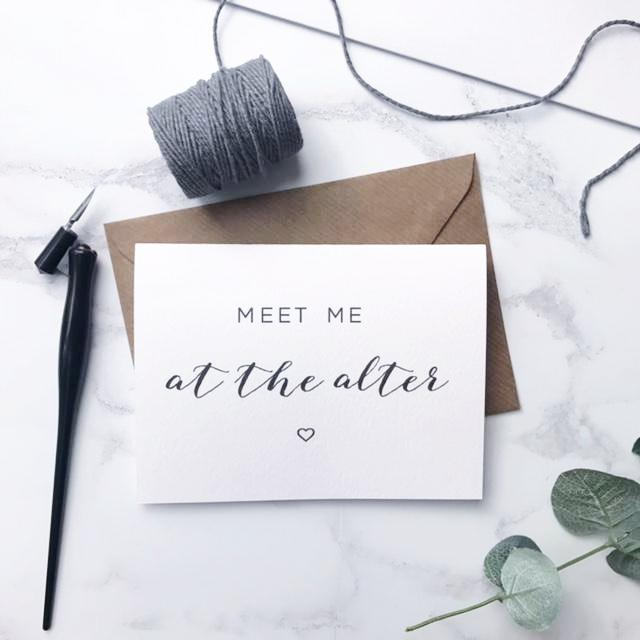 Meet me at the alter card