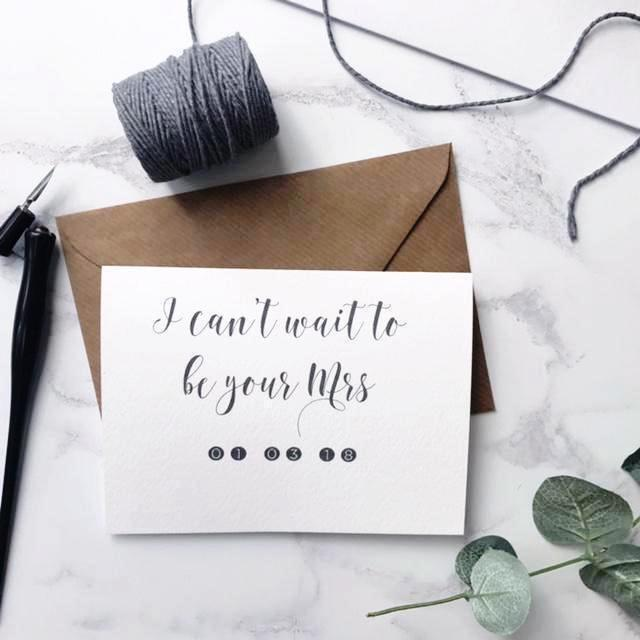 'I can't wait to be your Mrs' card