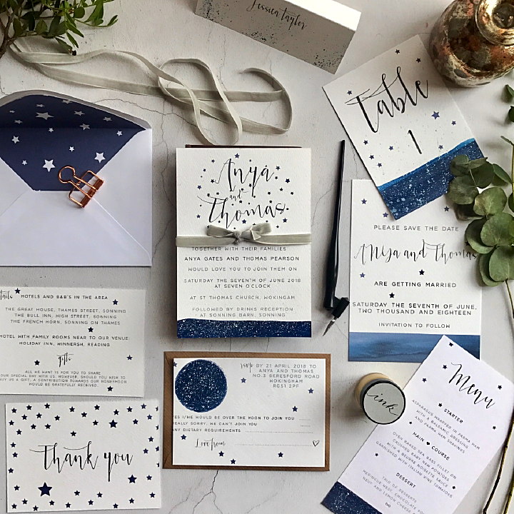 STAR ETOILE WEDDING INVITATION - Sample