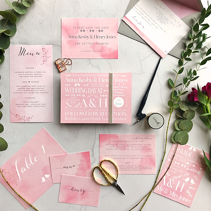 PEONY WEDDING INVITATION - Sample