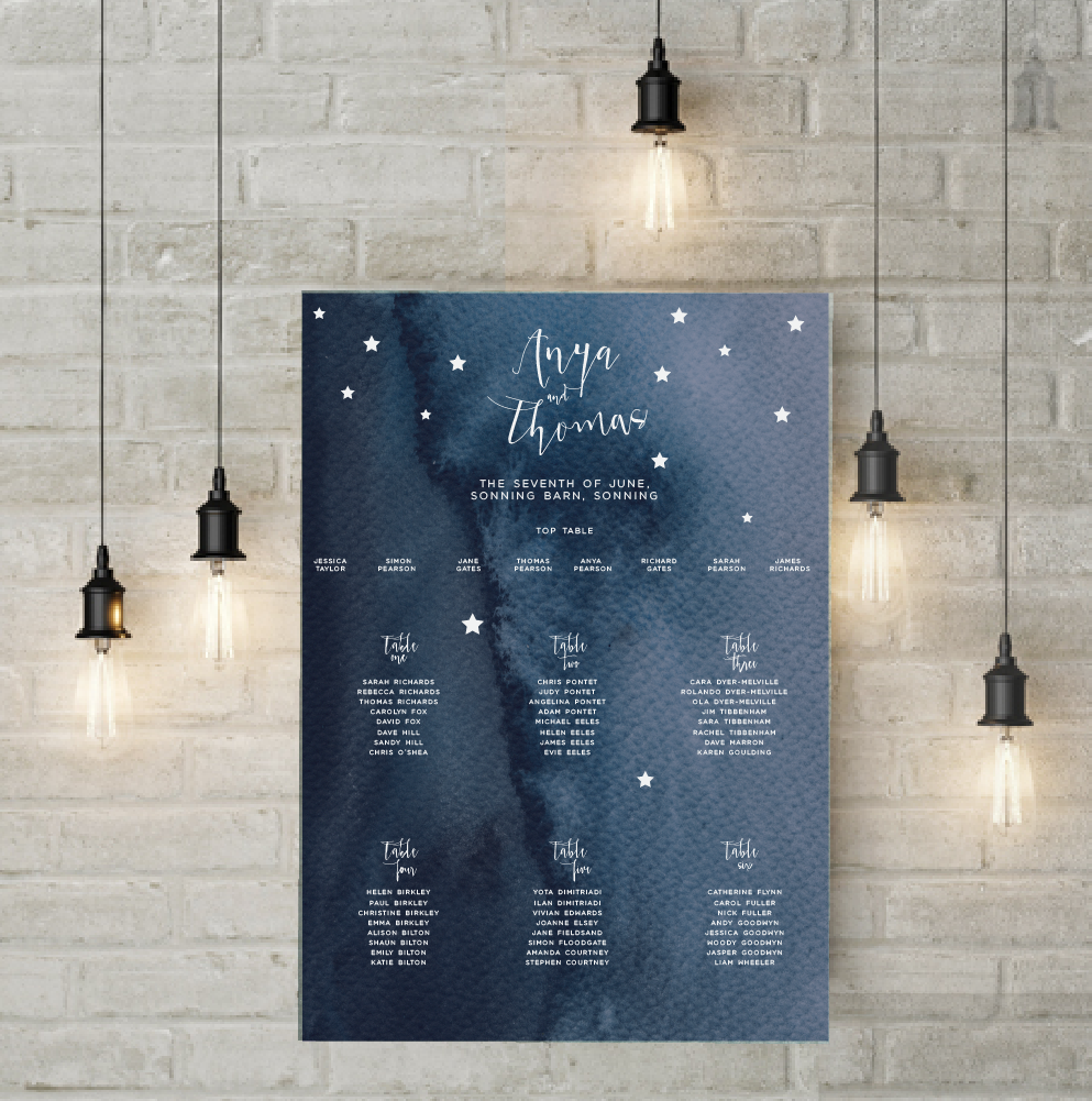 STAR ETOILE TABLE PLAN