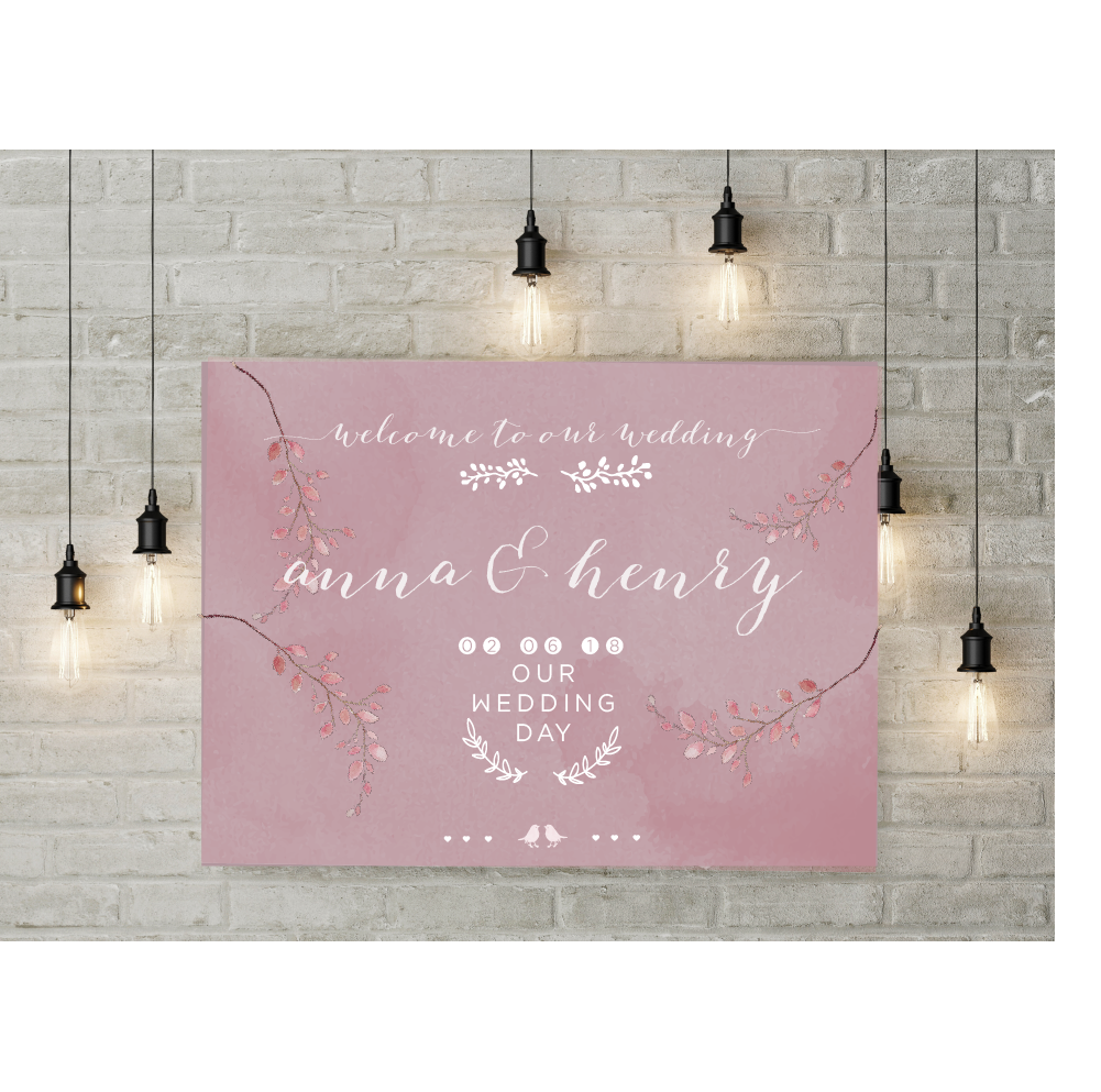 PEONY WELCOME SIGN