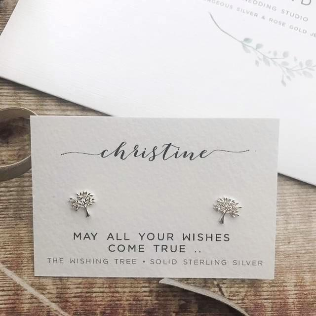 Sterling Silver Wishing Tree Earrings