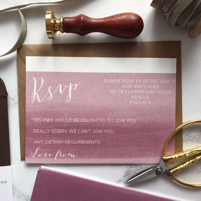 PAINTED FEATHER INVITATION - Sample