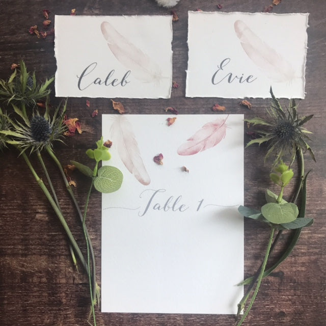 Painted Feather Place card
