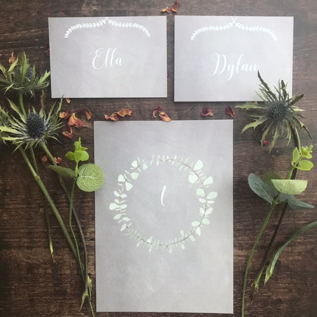 Soft Chalk Place card