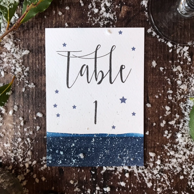 Star Etoile Table Number