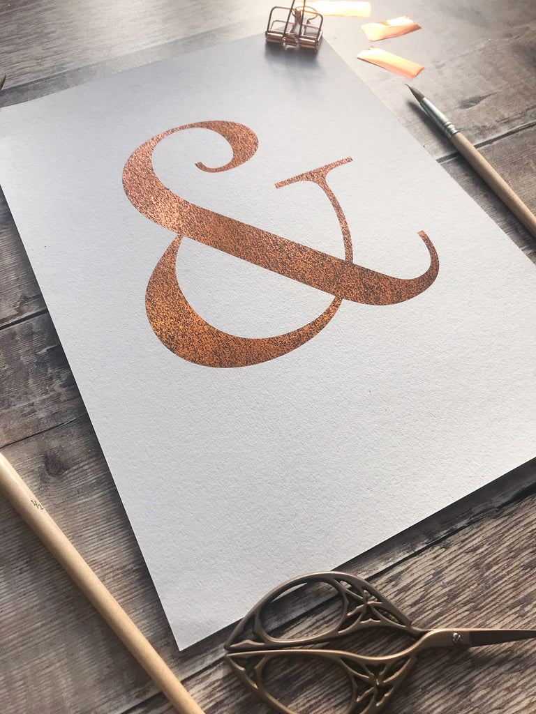 Ampersand Copper Foiled Print