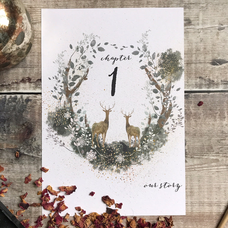 Woodland Table Number