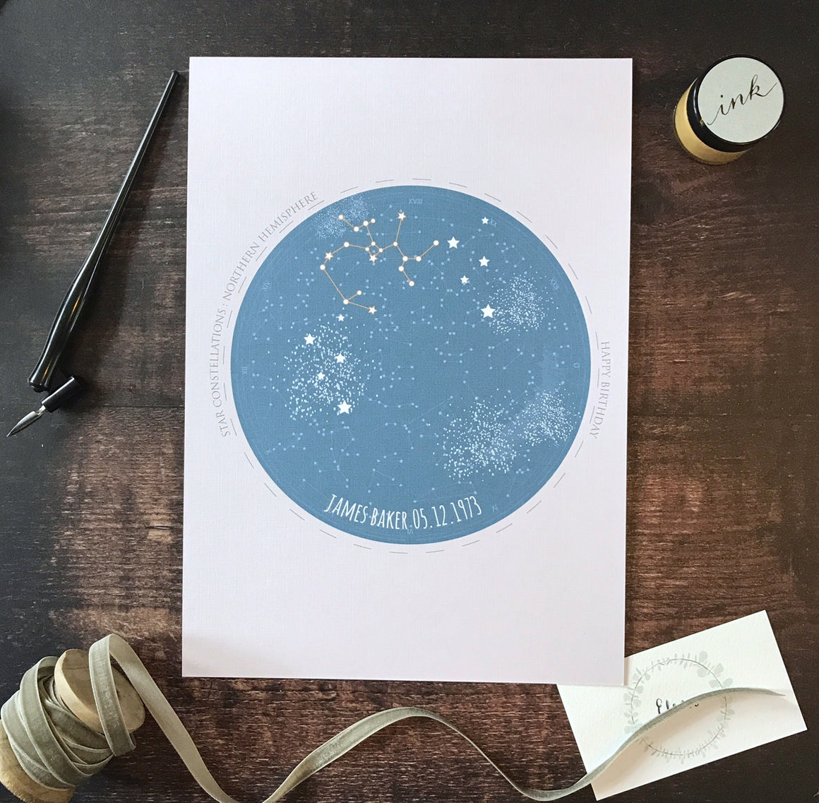 Personalised Star Constellation Print