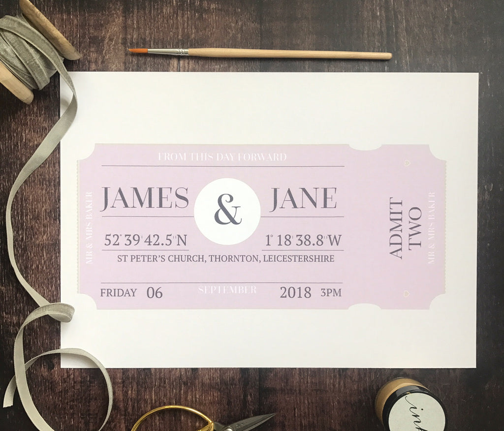 Personalised Ticket Print
