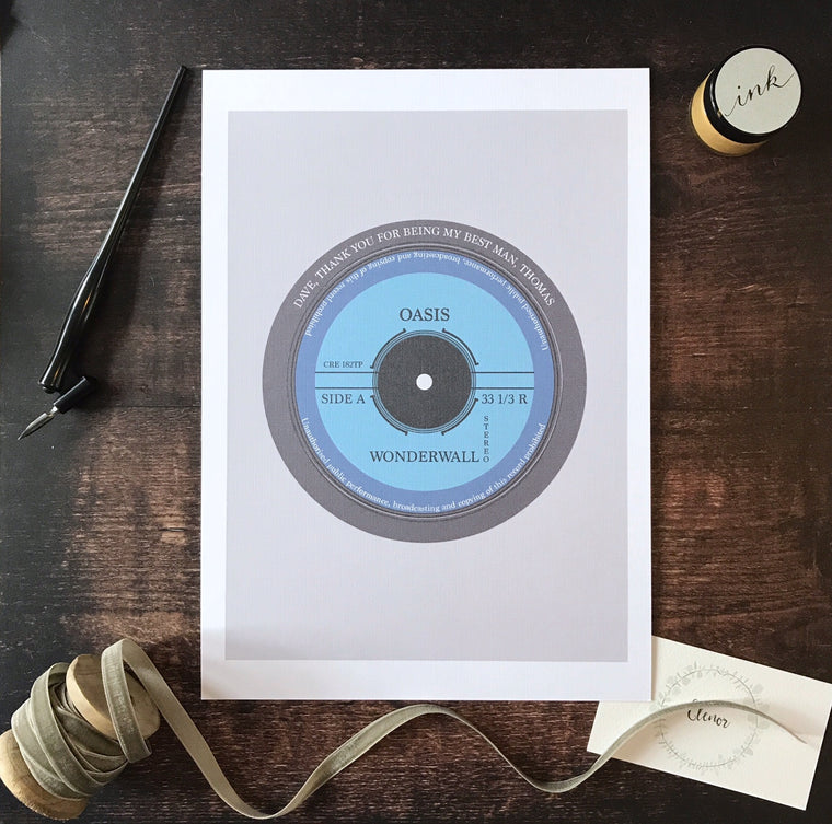 Personalised Record Print