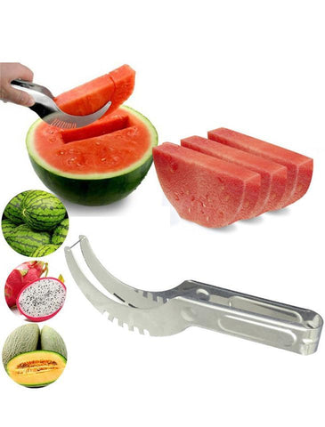 Stainless Steel Watermelon Slicer - Cutter - Tongs