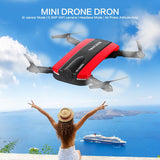 Mini Foldable Selfie Drone with Camera Cell Phone Control RC Helicopter
