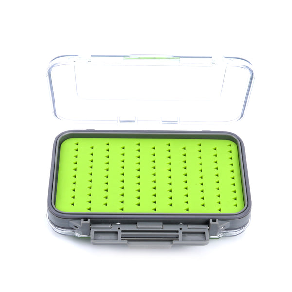 Large Silicone Double Sided Clear Lid Fly Box