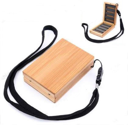 Bamboo Fly Box with Lanyard