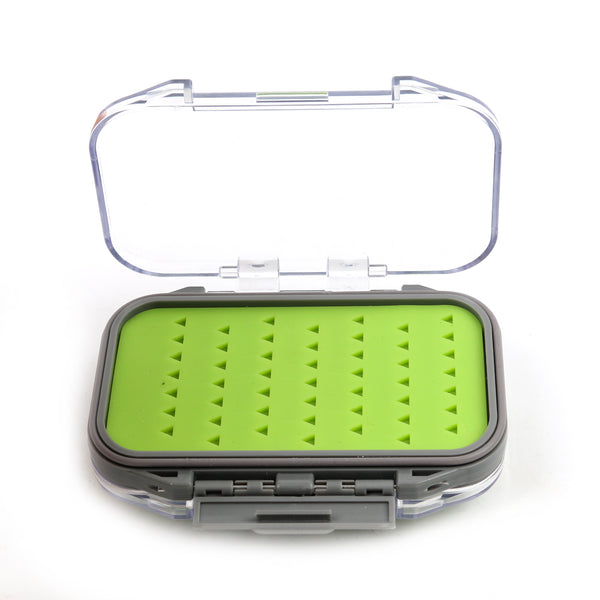Micro Silicone Double Sided Clear Lid Fly Box