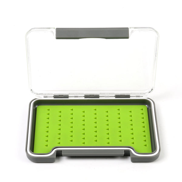 Small Silicone Slimline Waterproof Clear Lid Fly Box