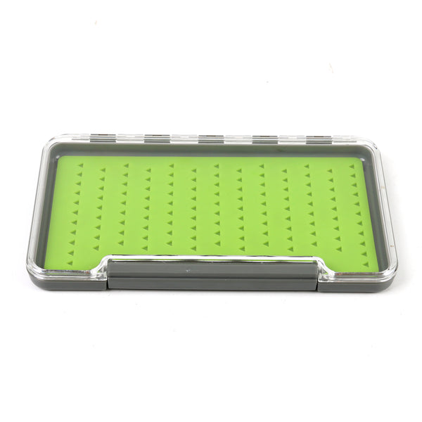 Large Silicone Slimline Waterproof Clear Lid Fly Box