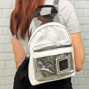 Chrome on White Backpack - Unicornabilia