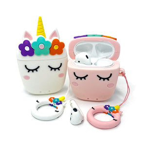 Unicorn AirPods Case Silicone Cover with Keychain - Unicornabilia